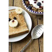 Cutlery Commission Silver-Plated Personalised Desert Spoon