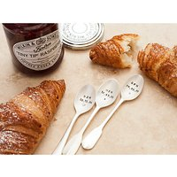 Cutlery Commission Silver-Plated Personalised Initials & Date Teaspoon