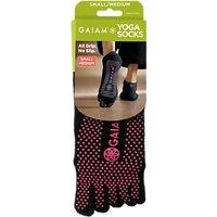 Gaiam No-Slip Yoga Socks, S/M, Black