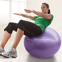 Gaiam 55cm Total Body Balance Ball Kit, Purple
