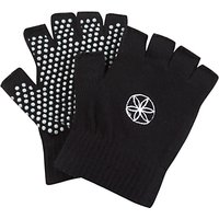 Gaiam Super Grippy Yoga Gloves, One Size, Black/Pink