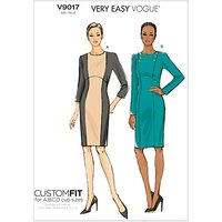 Vogue Very Easy Custom Fit Dress Sewing Pattern, 9017