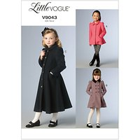 Little Vogue Girls Coat and Jacket Sewing Pattern, 9043