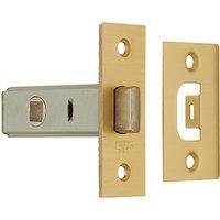 John Lewis Tubular Door Latch, Polished Brass