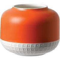 HemingwayDesign for Royal Doulton Rose Vase, H14cm, Orange/White