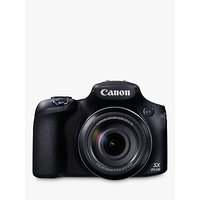 Canon PowerShot SX60 HS Bridge Camera, HD 1080p, 16.1MP, 65x Optical Zoom, 3 LCD Screen, Black