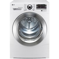 LG RC7066A2Z Sensor Condenser Tumble Dryer, 7kg Load, B Energy Rating, White