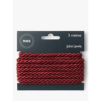 John Lewis 5mm Twisted Cord, 3m