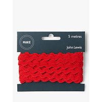 John Lewis & Partners 6mm Ric Rac, 5m, Red