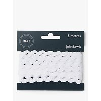John Lewis Ric Rac, 6mm, White