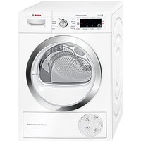 Bosch WTW87560GB Heat Pump Condenser Tumble Dryer, 9kg Load, A++ Energy Rating, White