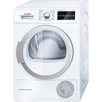 Bosch WTW85490GB Heat Pump Condenser Tumble Dryer, 8kg Load, A++ Energy Rating, White