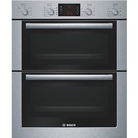 Bosch HBN53R550B Double Built-Under Electric Oven, Stainless Steel