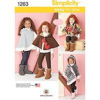 Simplicity Girls Cape Sewing Sewing Pattern, 1263