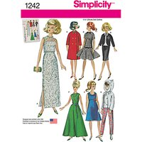 Simplicity Dolls Clothes Sewing Pattern, 1242