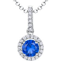 shop for Jools by Jenny Brown Sterling Silver Cubic Zirconia Round Pendant at Shopo