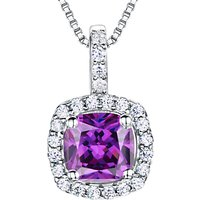 shop for Jools by Jenny Brown Sterling Silver Cubic Zirconia Square Cushion Pendant at Shopo