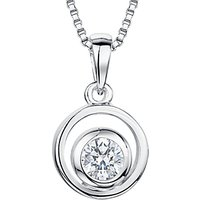 shop for Jools by Jenny Brown Cubic Zirconia Swirl Pendant, Silver at Shopo