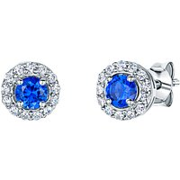 Jools by Jenny Brown Pave Surround Round Cubic Zirconia Stud Earrings