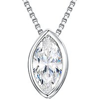 shop for Jools by Jenny Brown Sterling Silver Cubic Zirconia Pendant, Silver at Shopo