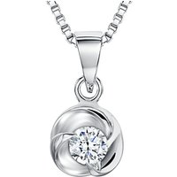 shop for Jools by Jenny Brown Sterling Silver Cubic Zirconia Small Triple Wave Pendant, Silver at Shopo