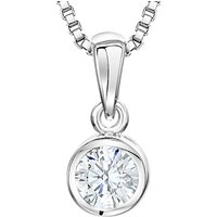 shop for Jools by Jenny Brown Sterling Silver Cubic Zirconia Circular Drop Pendant, Silver at Shopo