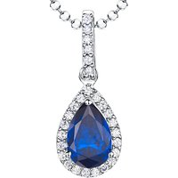 shop for Jools by Jenny Brown Sterling Silver Cubic Zirconia Teardrop Pendant at Shopo