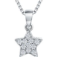 shop for Jools by Jenny Brown Rhodium Plated Silver Cubic Zirconia Star Pendant, Silver at Shopo