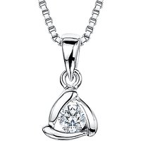 shop for Jools by Jenny Brown Sterling Silver Cubic Zirconia Triangle Pendant, Silver at Shopo