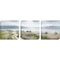 Michael Sanders - Coastal Path Canvas Triptych, 40 x 40cm