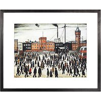LS Lowry - Going To Work 1943 Framed Print, 41.1 x 50.8cm