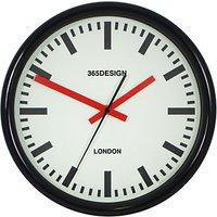Lascelles Personalised Station Clock, 30cm, Black