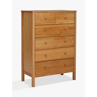 John Lewis Morgan 6 Drawer Chest, Oak