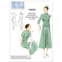 Vogue Vintage Womens Jacket and Dress Sewing Pattern, 9052