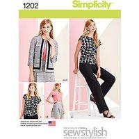 Simplicity Womens Sportswear Sewing Pattern, 1202