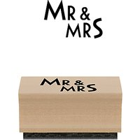 East of India Mr & Mrs Rubber Stamp