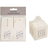 East of India Square Favour Boxes, Set of 6, Cream