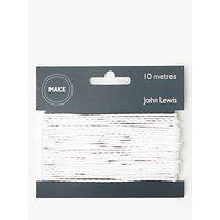 John Lewis & Partners Cord, 1mm, White