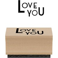 East of India Love You Stamp, Multi