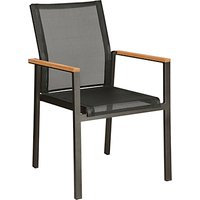 Barlow Tyrie Aura Outdoor Armchair, FSC-certified (Teak), Graphite/Charcoal