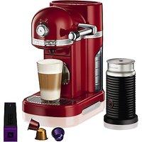 Nespresso Artisan Coffee Machine with Aeroccino by KitchenAid
