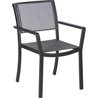Barlow Tyrie Cayman Garden Dining Armchair, Graphite / Umber
