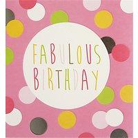Caroline Gardner Pink Spots Birthday Card