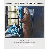 Black Olive 70th Birthday Card