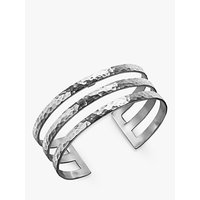 shop for Dower & Hall Sterling Silver Triple Cuff, Silver, 25mm at Shopo