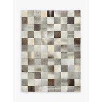 John Lewis Grey Cowhide Tiles Rug