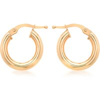 shop for IBB 9ct Rose Gold Creole Earrings, Rose Gold at Shopo