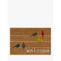 John Lewis Birds on a Wire Doormat, Multi
