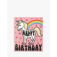 Candy Floss Unicorn Birthday Card