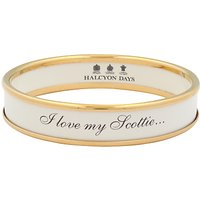 Halcyon Days I Love My Scottie Enamel Bangle